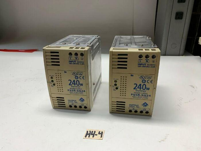 Used Idec Izumi PS5R-SG24 Power Supply 240W 24VDC Output (Lot of 2) *Fast Shipping*