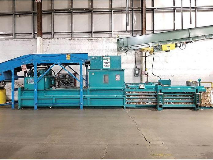 Used MAREN HORIZONTAL WIDE MOUTH SHEAR BALER MODEL SWSS-A-8-30P 30 HP NO CONVEYOR
