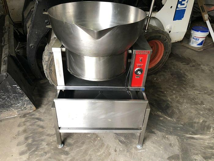 Used VULCAN VGCTS16  16 GAL. NAT. GAS TILTING BRAISING PAN ON HEAVY DUTY STAINLESS STEEL STAND only @ AMERICA'S STEAM KETTLE HEADQUARTERS !