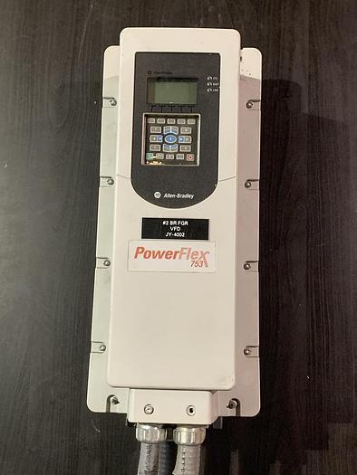 Used ALLEN BRADLEY POWERFLEX 753 DRIVE 10 HP